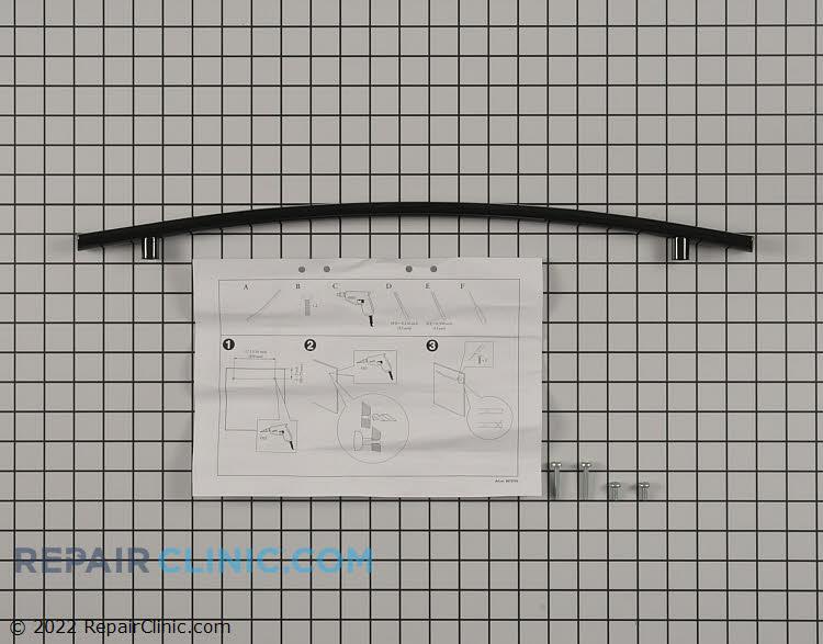 Curved door handle, black