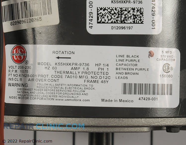 Motor R47429-002 Alternate Product View