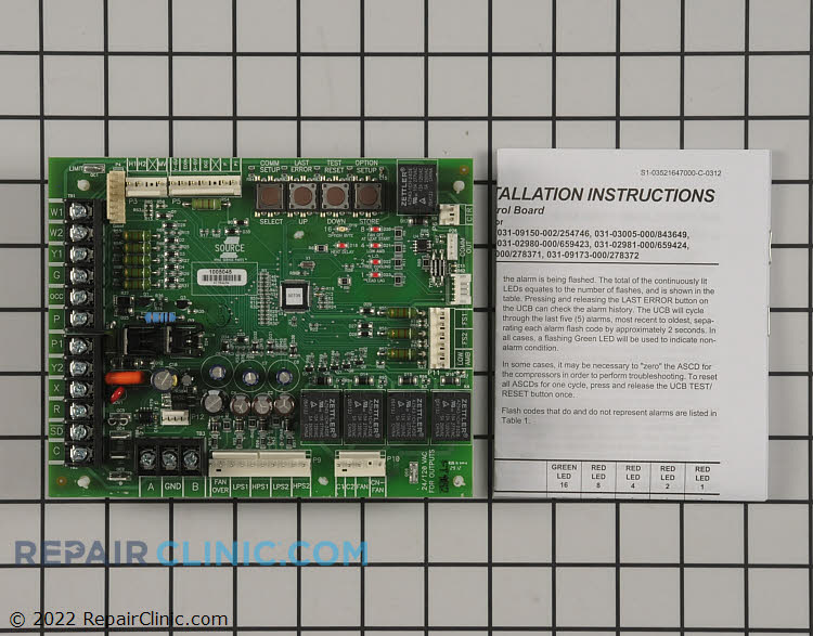 Control Board Part 2332797 Mfg S1 33109150000