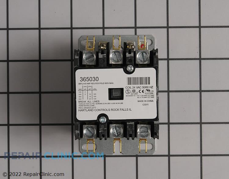 Contactor, 30 amps, 24 volts, 50/60 hertz