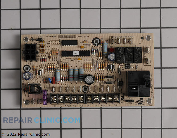 Fan/electric heat control board