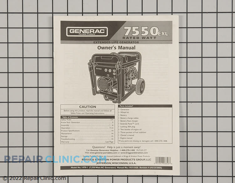 Owner's Manual 193715GS Alternate Product View