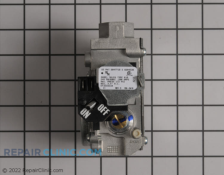 Gas Valve Assembly EF32CW210 Alternate Product View