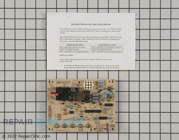 Control Board CESO110074-01 Alternate Product View