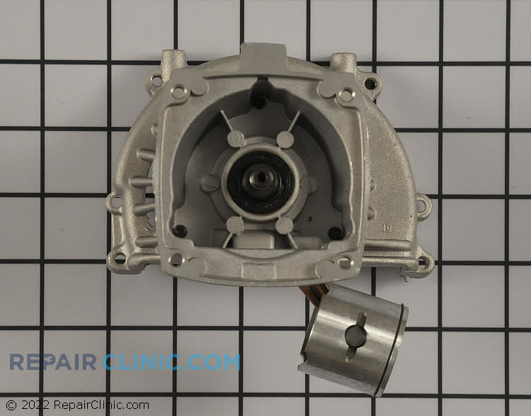 Crankcase assembly with piston