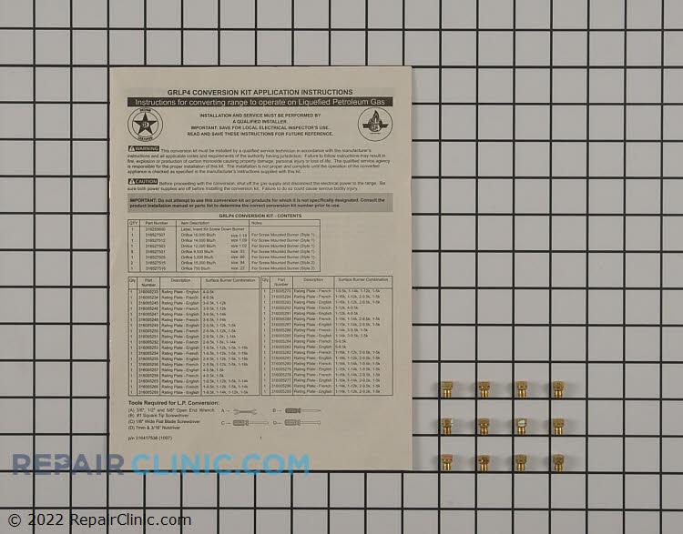 Range Stove Oven Conversion Kit Grlp4 Fast Shipping