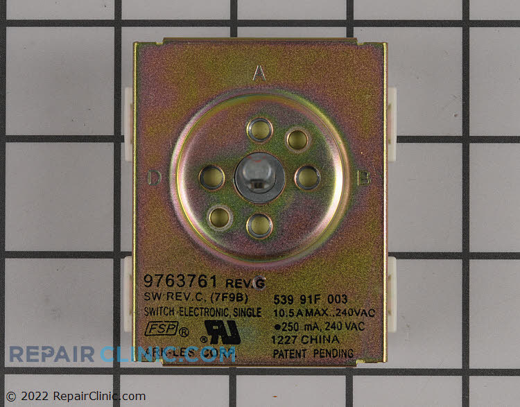 Single surface element control switch