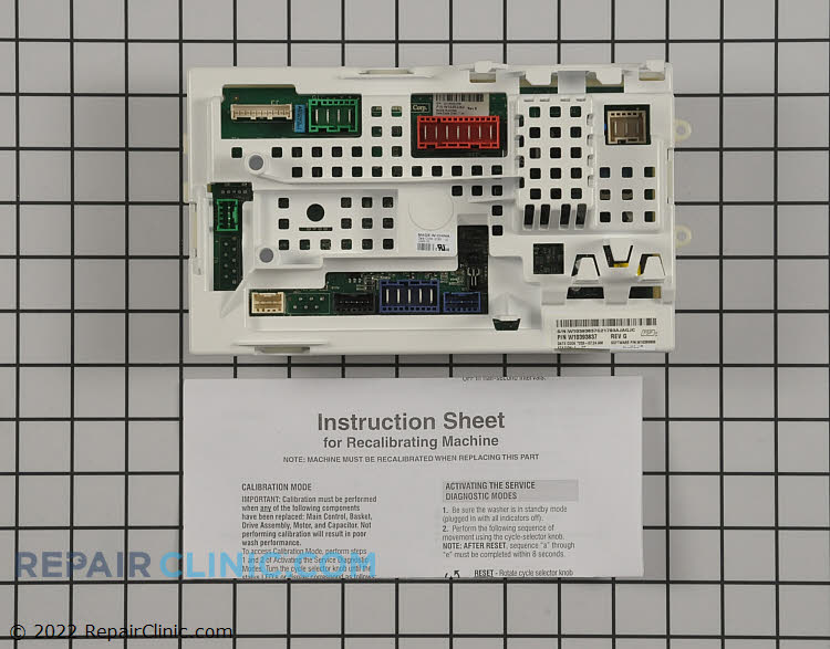 Control Board W10393837 Alternate Product View