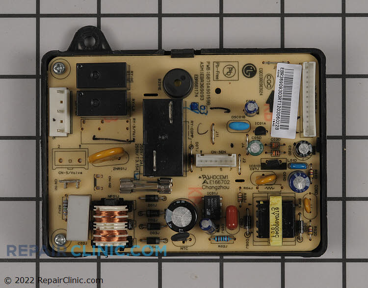 Main PCB assembly. NOTE: This part is often misdiagnosed and requires electrical testing with a volt/ohm meter to determine if it is defective.