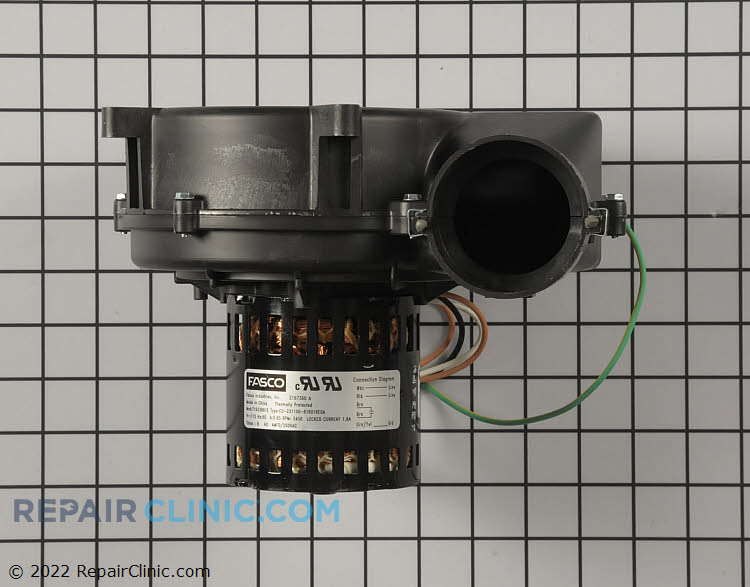 Induced draft blower motor with gasket, 120 volts
