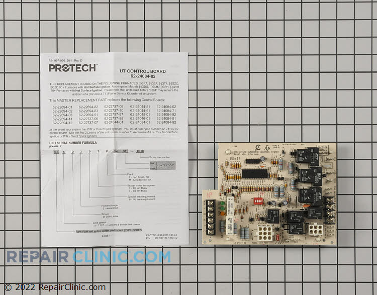 Control Board 62-24084-82 Alternate Product View