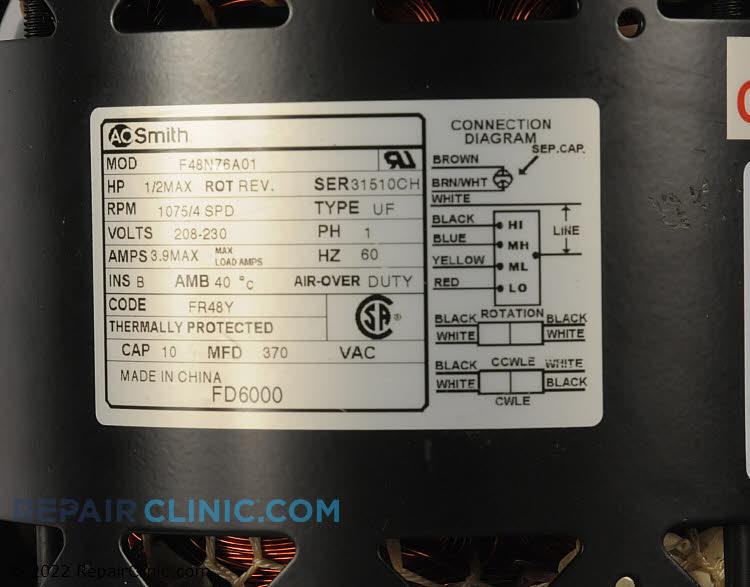 Fan Motor FD6000          Alternate Product View