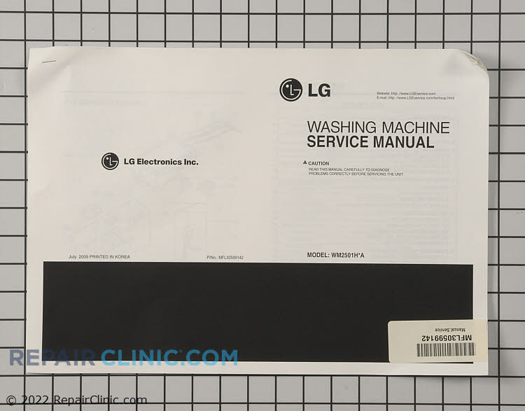 Repair Manual MFL30599142     Alternate Product View
