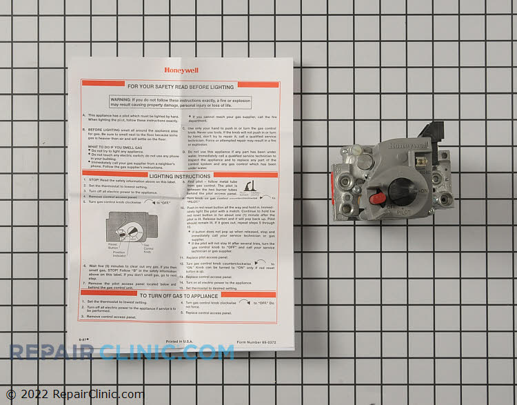 Gas Valve Assembly VR8200A2132 Alternate Product View