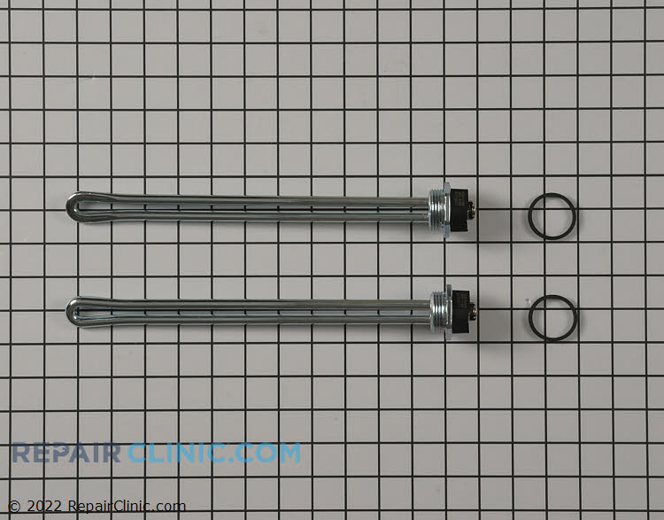 Heating element kit with two elements rated at 4500 watts at 220 volts and 3500 watts at 208 volts