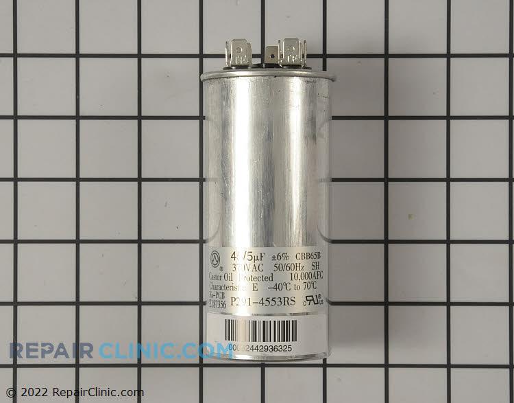 Dual capacitor. 370 VAC 45 + 5 MFD.