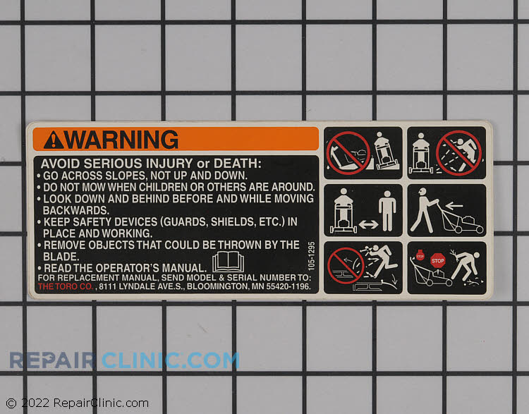 Decal 105-1295 Alternate Product View