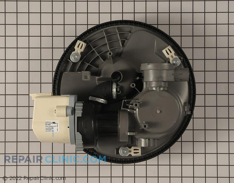 Sump housing and circulation pump motor assembly