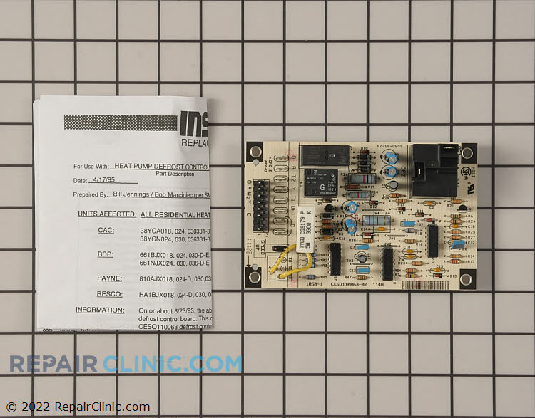 Defrost Control Board CESO110063-02 Alternate Product View