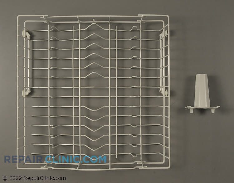 Upper dishrack kit with rollers and center spray nozzle.<br>This part may have been redesinged from your original dishrack. The tine locations and depth of the dishrack may be different.