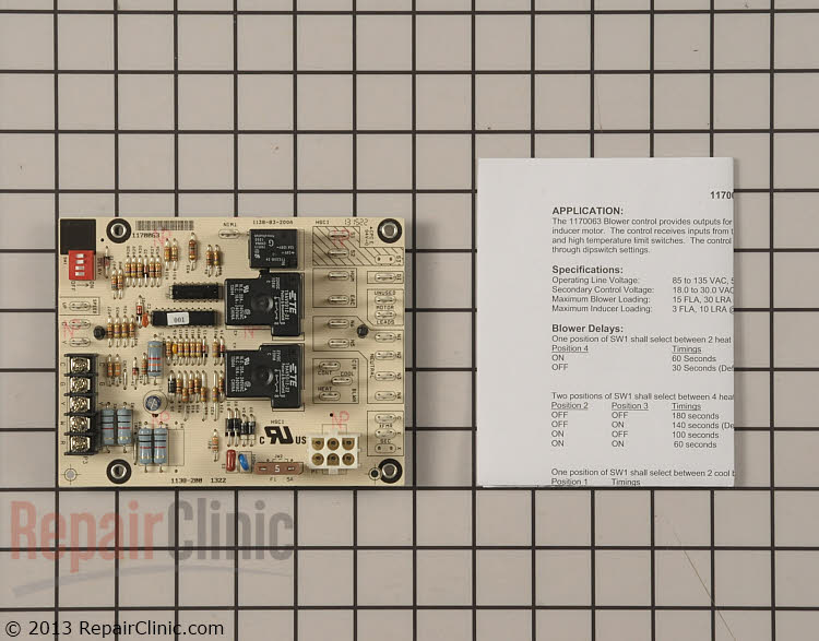 Control Board 1170063 Alternate Product View