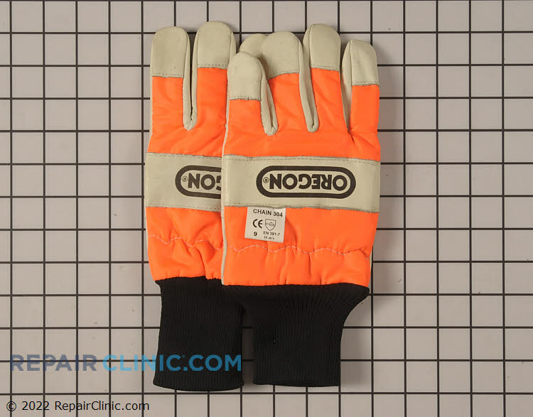 Protect your hands while working in the yard with these orange chainsaw gloves. Size Meduim.<br>Please see related items below for additional sizes