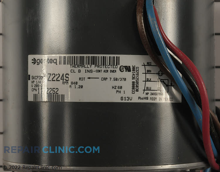 Condenser Fan Motor 1172252 Alternate Product View