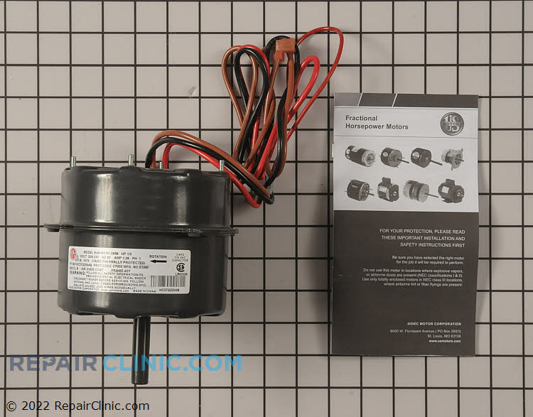"""1/5 HP 208-230Volts 60Hertz 1.08Amps 1075RPM Single Speed Closed Enclosure 42Y Frame Single Phase CCW Rotation 2"""" Shaft"""