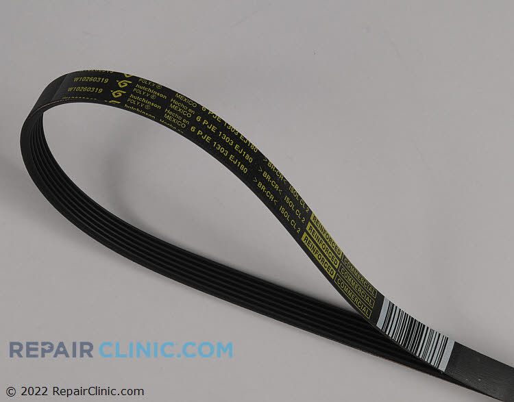 Drive Belt WPW10260319 Alternate Product View