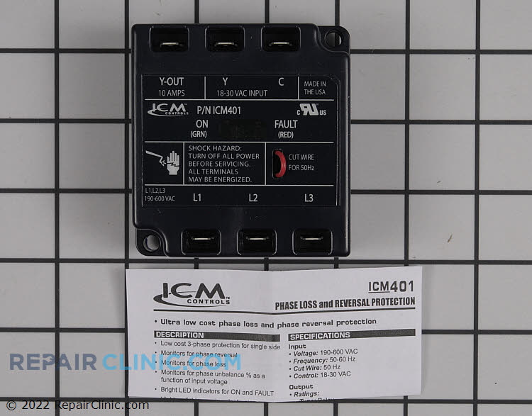 3-phase line monitor, universal 190-600 vac, 18-30