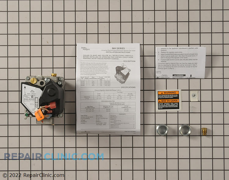 Gas Valve Assembly 36H33-412 Alternate Product View