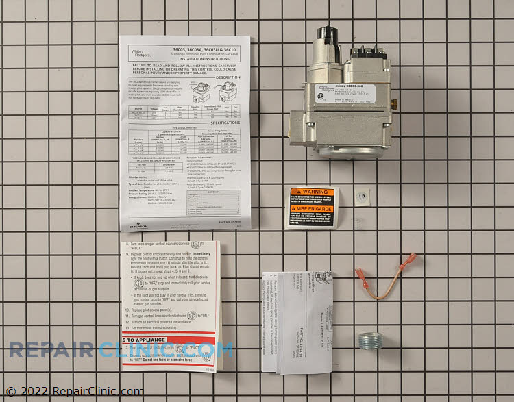 Gas Valve Assembly 36C03-300 Alternate Product View
