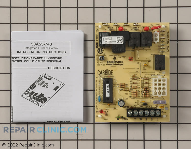 Control Board 50A55-743 Alternate Product View
