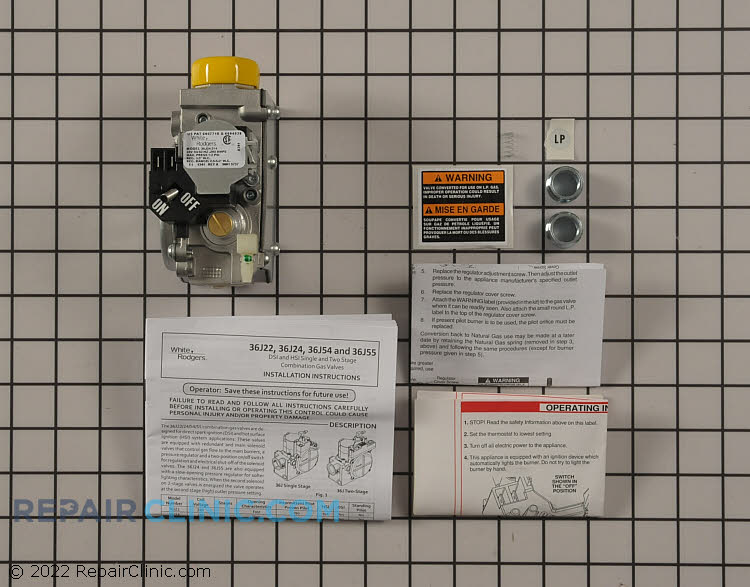 Gas Valve Assembly 36J24 214 01648419 white rodgers furnace parts fast shipping repairclinic com Old Lennox Wiring-Diagram at crackthecode.co