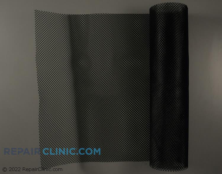 Guard,coil wiremesh,30x110,black plastic