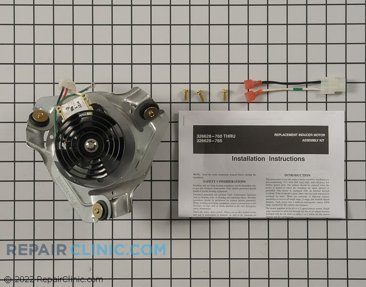 Draft Inducer Motor 326628-763 Alternate Product View