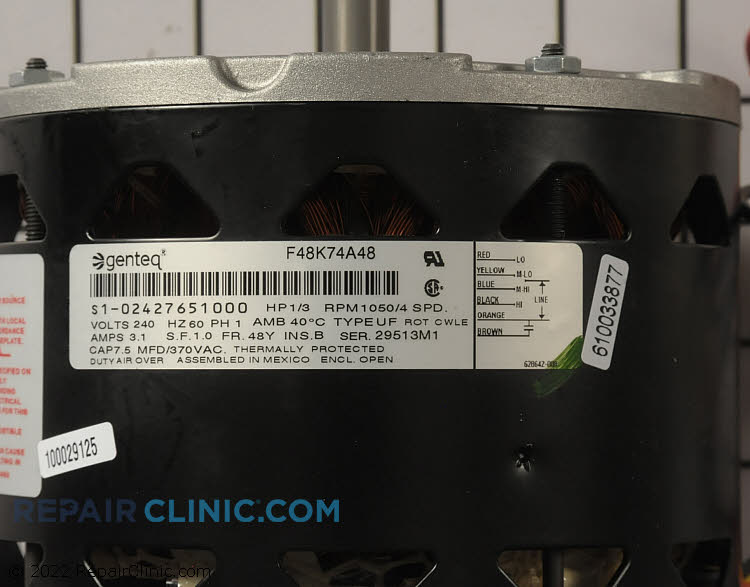 Blower Motor S1-02427651000 Alternate Product View