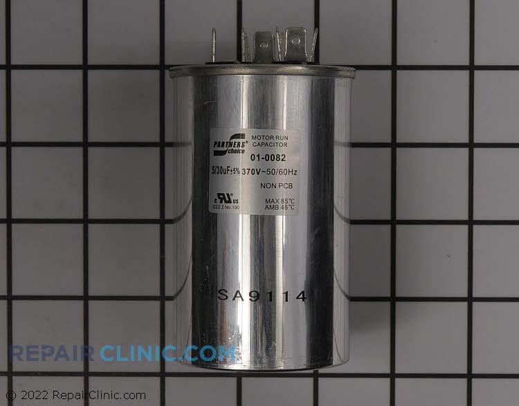 Dual capac 30/5 mfd 370v round
