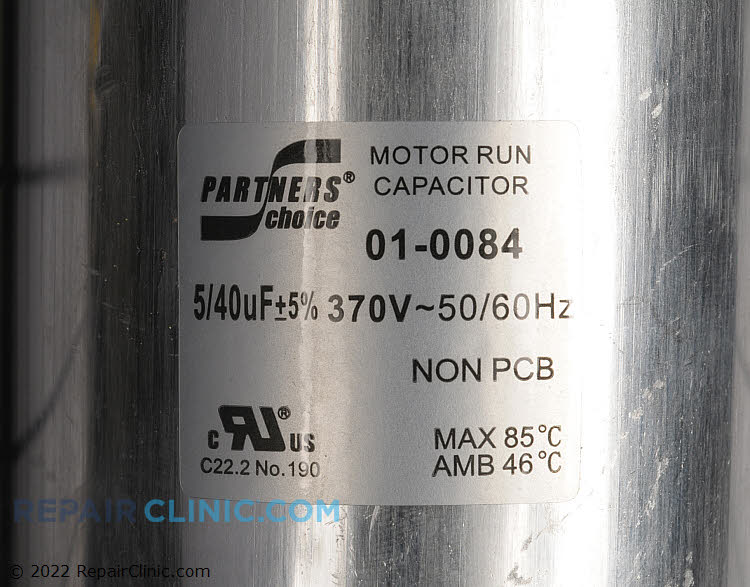 Dual Run Capacitor 01-0084 Alternate Product View