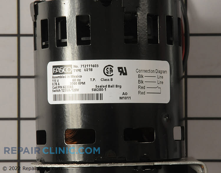 Draft Inducer Motor 904478 Alternate Product View