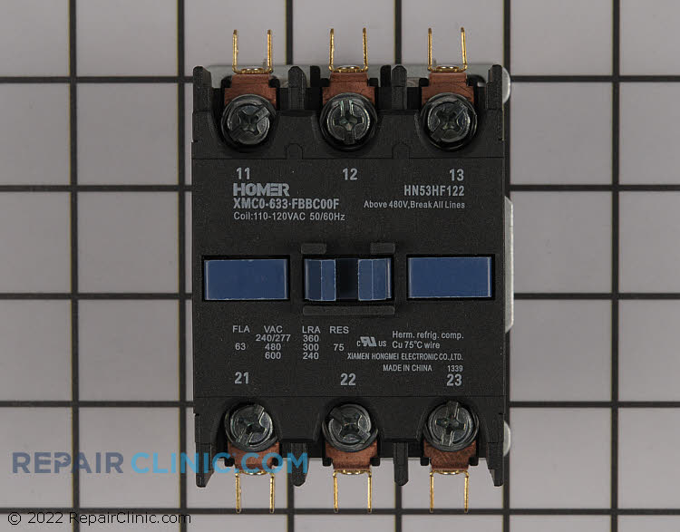 Contactor 75 amp 120v coil