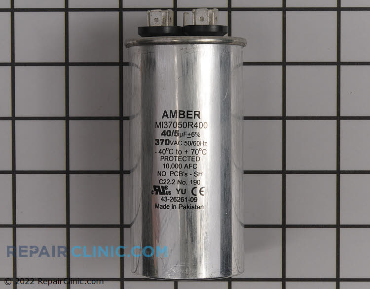 Run Capacitor 370 Volts Round Dual 40/5 MFD