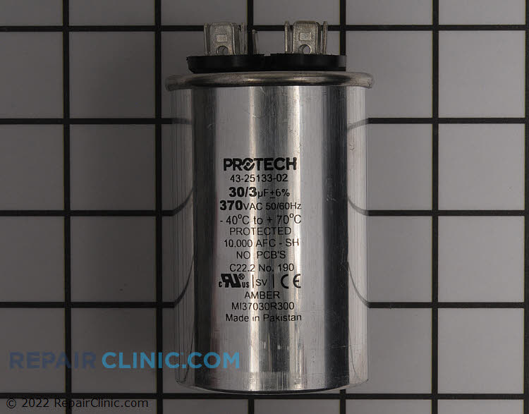 Run Capacitor 370 Volts Round Dual 30/3 MFD