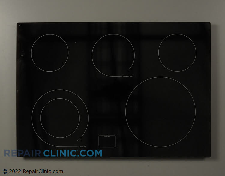 Smooth glass cooktop
