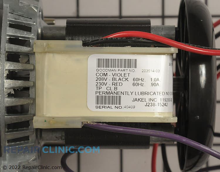 Draft Inducer Motor 20351403S Alternate Product View
