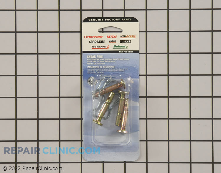 Shear Pin OEM-738-04124 Alternate Product View