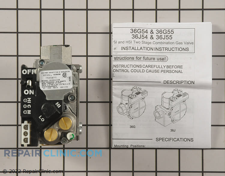Gas Valve Assembly 0151F00000P Alternate Product View
