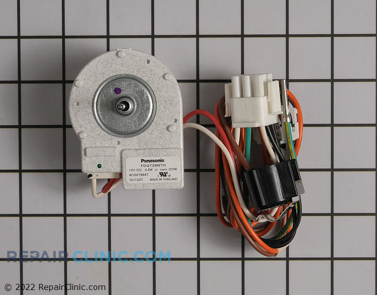 Evaporator fan motor wpw10276647 for Evaporator fan motor troubleshooting