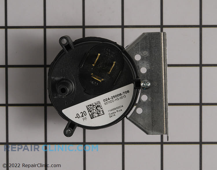 Air pressure switch .20 iwc