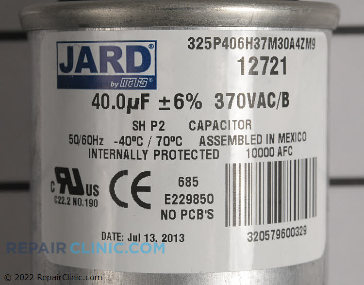 Run Capacitor C340R Alternate Product View